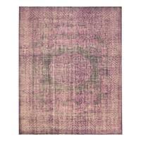 Handmade Herat Oriental Indo Hand-knotted Moroccan Overdye Wool Area Rug - 8' x 10'