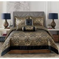 Everrouge Lyon Luxury Jacquard 7 Pcs Comforter set