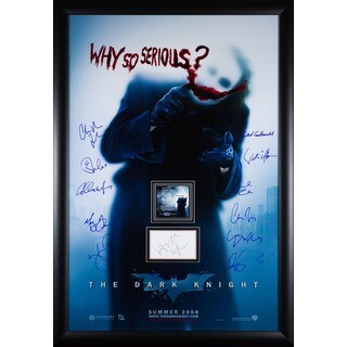 Why So Serious Batman The Dark Knight Rises - Signed Movie Poster