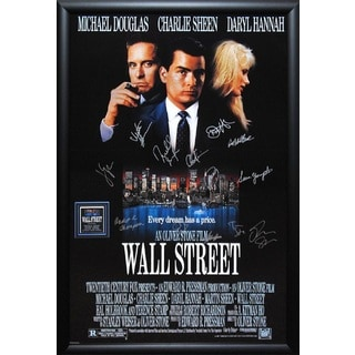 Wall Street - Signed Movie Poster