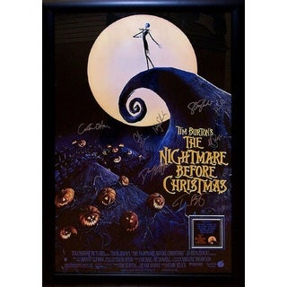 The Nightmare Before Christmas Signed Movie Poster