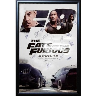 The Fate Of The Furious Signed Movie Poster