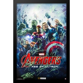 The Avengers Age Of Ultron Signed Movie Poster