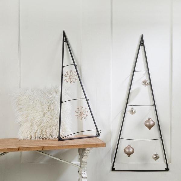 Metal Tree Wall Ornament Holder, Set of 2