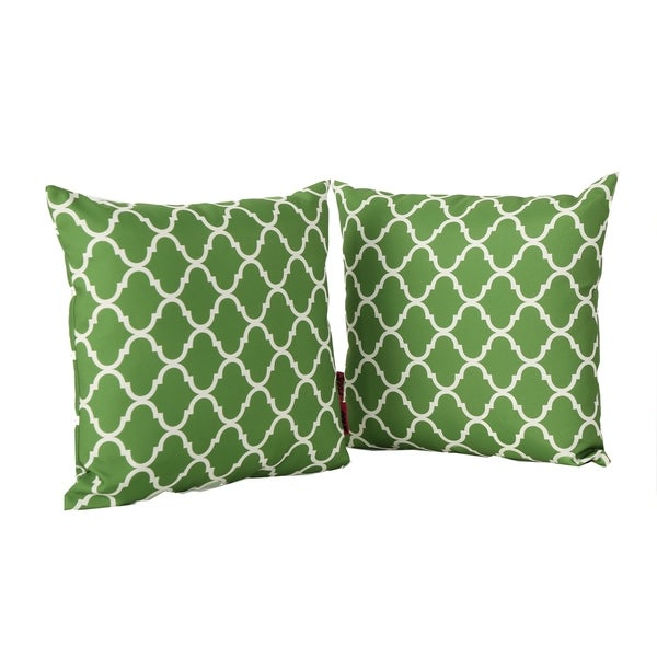 Shop amorie white print fabric throw pillow set of 2 by - Fabric for throw pillows ...