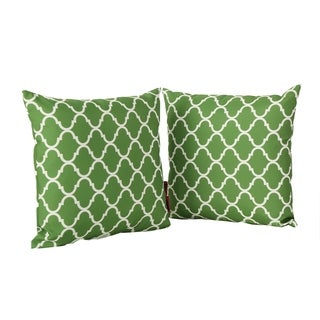 Amorie White Print Fabric Throw Pillow (Set of 2) by Christopher Knight Home