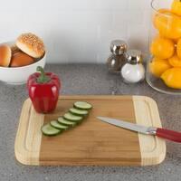 Classic Cuisine Two Tone Bamboo Cutting Board