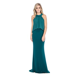 Decode 1.8 Women's Draped Mock 2-piece Evening Dress