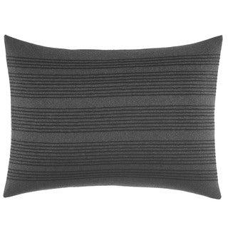 Vera Wang Charcoal Floral Pinstripe Throw Pillow