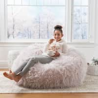 Christopher Knight Home Lachlan Glam 5 Ft Faux Fur Bean Bag Chair Deals