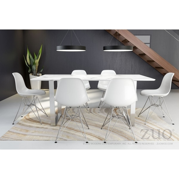 Shop Atlas Dining Table Stone & Brushed Ss