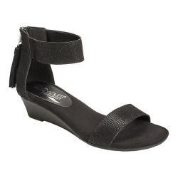 Women's Aerosoles Yetroactive Ankle-Strap Sandal Black Suede