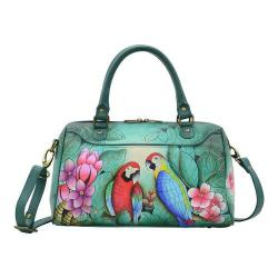 Women's ANNA by Anuschka Hand Painted Zip Around Convertible Satchel 8275 Brazilian Beauties