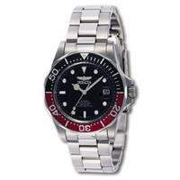 Invicta Men's  Automatic Pro Diver S2 Black Dial Watch - Silver/Black