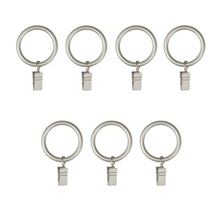 Umbra Clip Rings for Curtain Panels, Extra-Large, Set of 7
