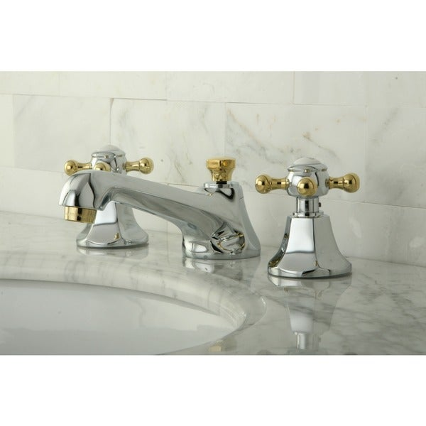 Metropolitan Chrome and Polished Brass Bath Faucet - Free Shipping ...