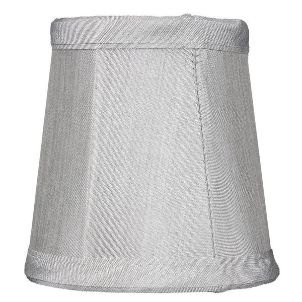 3x4x4 Grey Stretch Clip-On Candlelabra Clip-On Lamp shade
