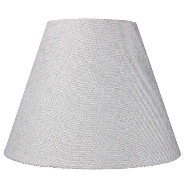 7x14x11 Hard Back Empire Lamp Shade - Khaki Burlap