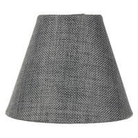 3x5x4 Granite Grey Burlap Lamp Shade - Clip-on Candelabra Shade