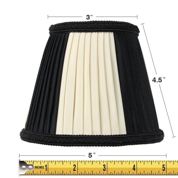 3x5x5 Black Egg Chandelier Clip-On Lampshade