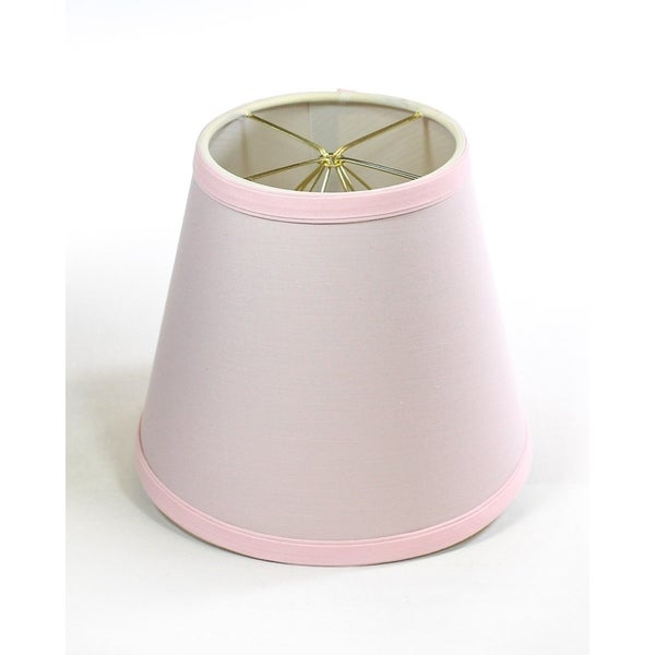 5x8x7 Empire Linen Edison Clip On Lamp Shade Pale Dogwood Pink