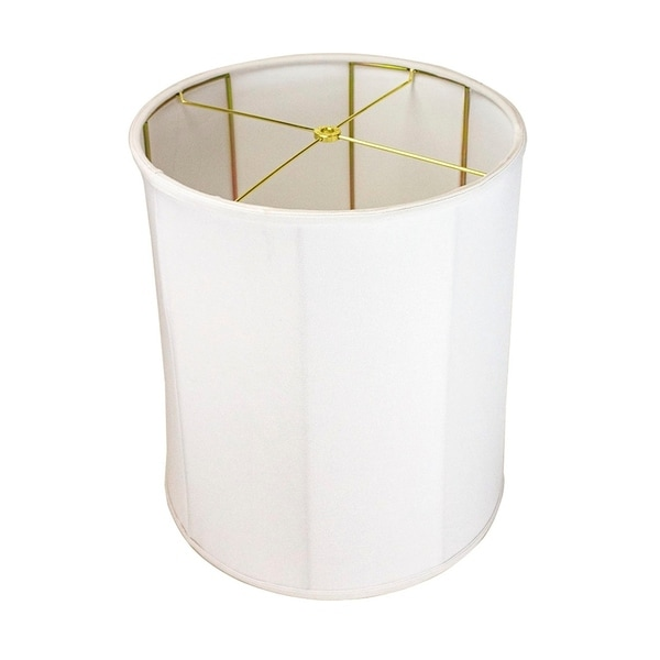 14x15x17 Collapsible Drum Lamp Shade Premium White Linen