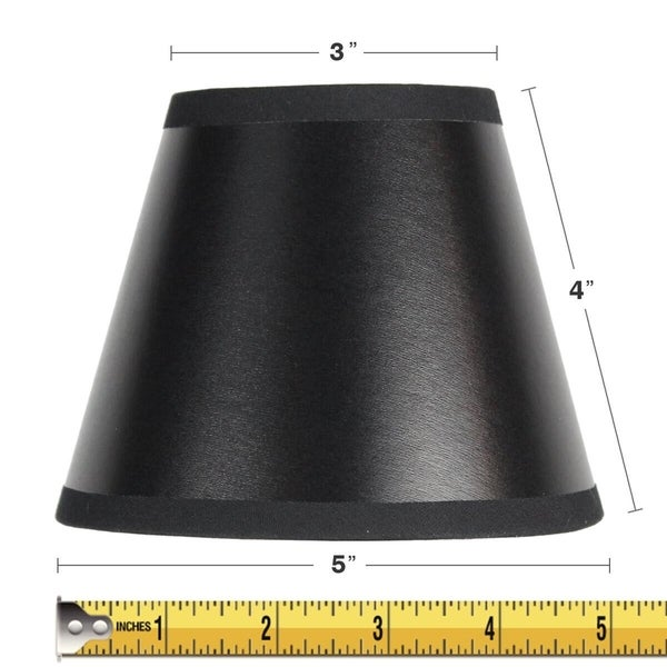 3x5x4 Black Parchment Silver-Lined Chandelier Lampshade