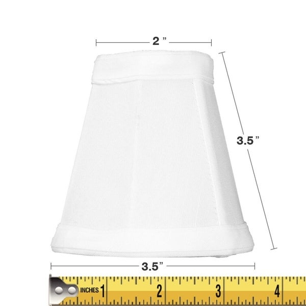 2x4x4 Candelabra Stretch White Clip-On Lamp