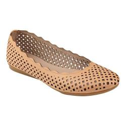 Women's Easy Spirit Gelica Ballet Flat Natural Synthetic