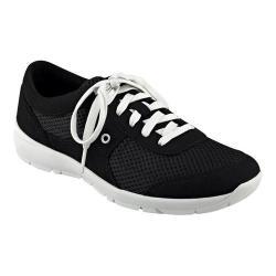 Women's Easy Spirit Gogo Sneaker Black/Black Fabric