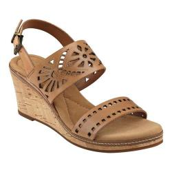 Women's Easy Spirit Kristina Wedge Sandal Natural Leather