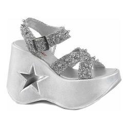 Women's Demonia Dynamite 02 Sandal Silver Glitter