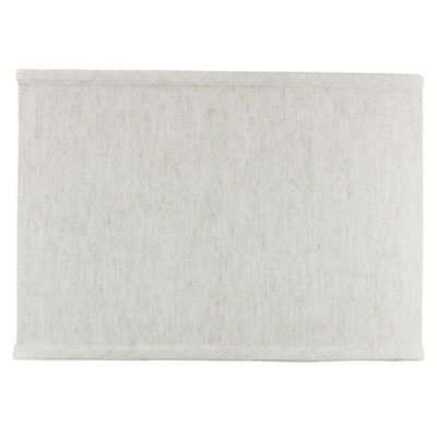 Rectangular Drum Lampshade (8x14) (8x14) x 10 Textured Oatmeal