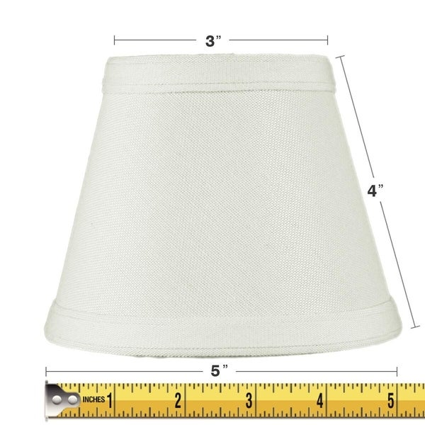 3x5x4 Clip-on Candelabra Lamp Shade Light Oatmeal