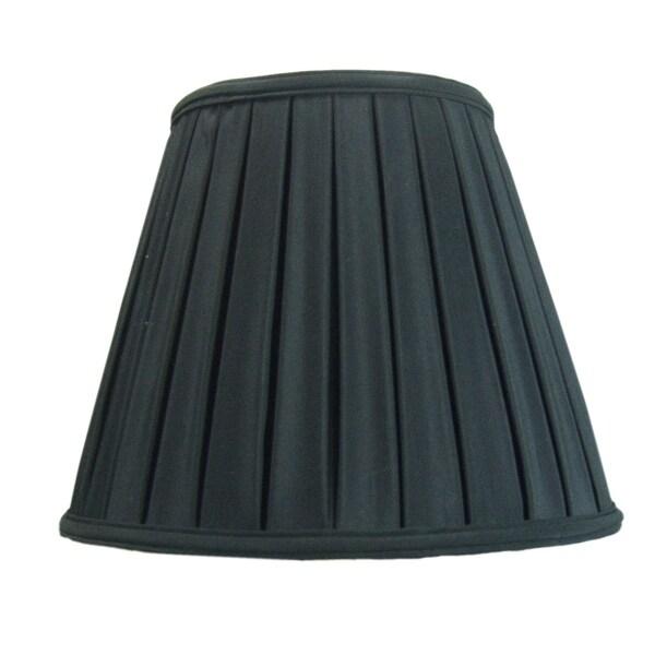 8x14x11 Empire Box Pleat Shade Black