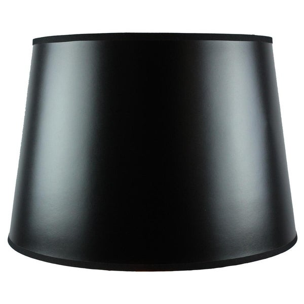 13x16x11 Black Parchment Gold-Lined Floor Lampshade