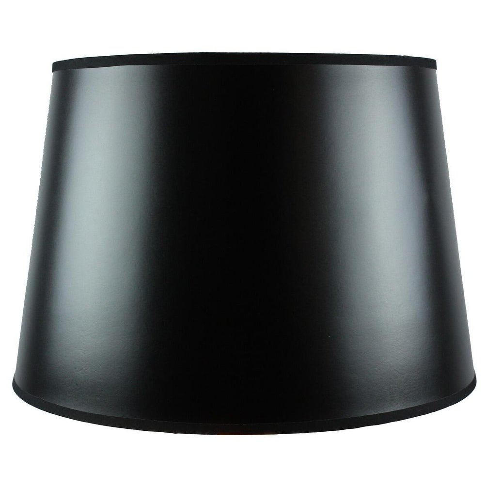 Concept 13x16x11 Black Parchment Gold-Lined Floor Lampshade