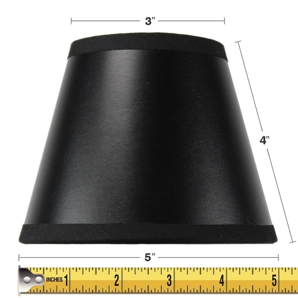 3x5x4 Black Parchment Gold Lined Chandelier Candle Clip Lamp Shade