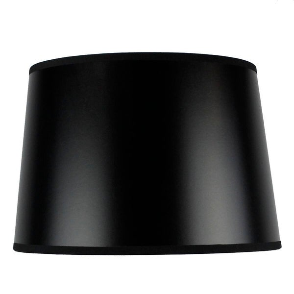 Hardback Shallow Drum Lamp Shade 10x12x8 Black