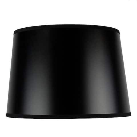 Hardback Shallow Drum Lamp Shade 10x12x8 Black