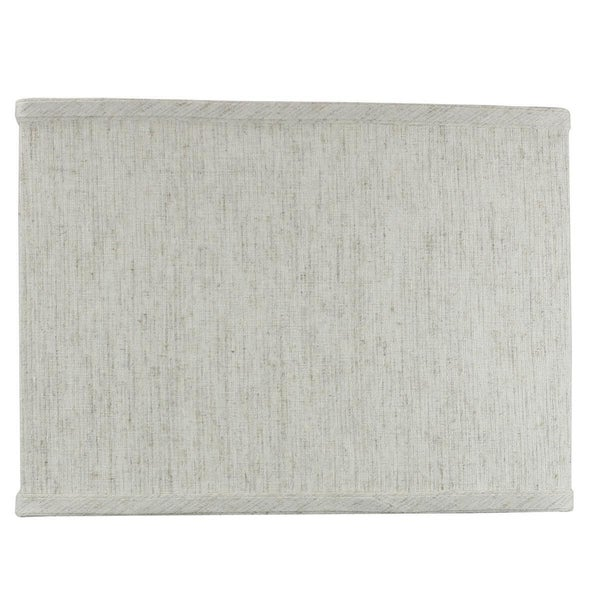 Rectangular Drum Lampshade (6.5x12) (6.5x12) x 9 Textured Oatmeal