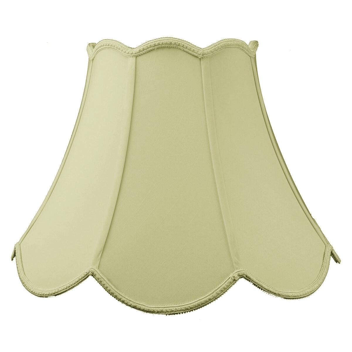 Concept 9x18x13 Scalloped Bell Lamp Shade Eggshell, Beige...
