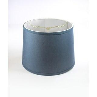 Textured Slate Blue Drum Shade 12x14x10