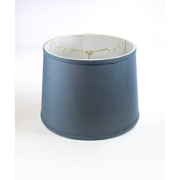 Textured Slate Blue Drum Shade 12x14x10