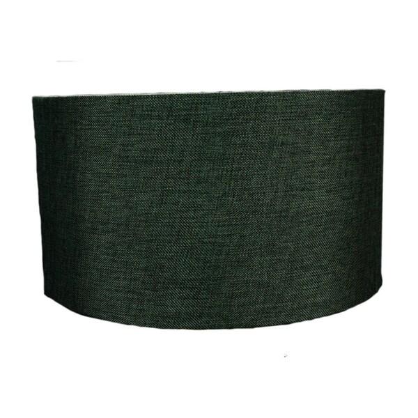 Granite Grey Burlap Hardback Drum Lampshade 14x14x7