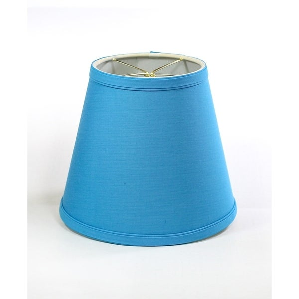 5x8x7 Empire Linen Edison Clip On Lamp Shade Niagra Blue