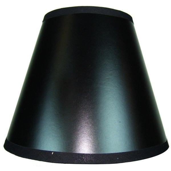 5x10x8 Black Parchment Empire Hardback Lampshade