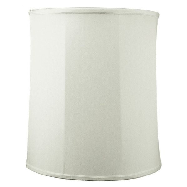 14x15x17 Collapsible Drum Lamp Shade Premium Light Oatmeal Linen