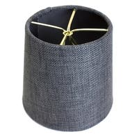 4.5x 5.5x 5.25 Granite Grey Burlap Drum Shade