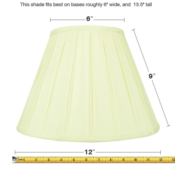 6x12x9 Eggshell Empire Lampshade with White Liner